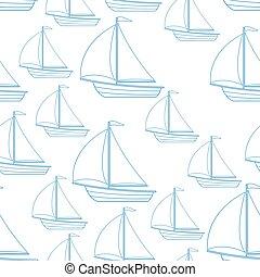 velero, seamless, patrón