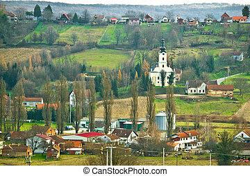 Veliko trojstvo village hill view