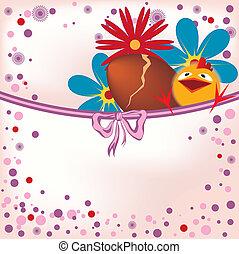 velikonoční, kuře