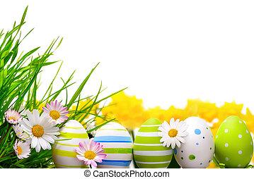 velikonoční obalit v rozšlehaných vejcích, uspořádání