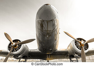 velivolo elica, vecchio, obsoleto