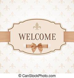 velkommen, retro, banner
