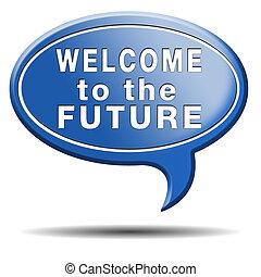 velkommen, til, fremtiden
