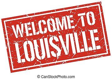 velkommen, til, louisville, frimærke