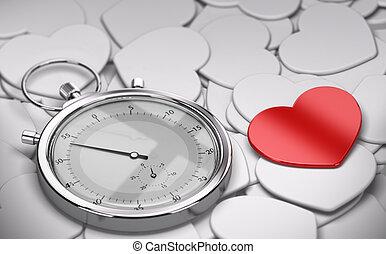 velocidad, concepto, -, fechando, amor
