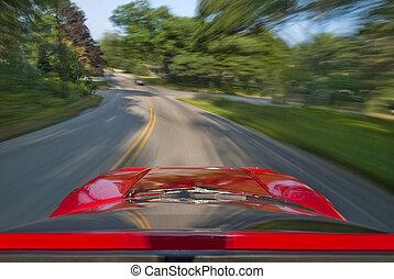 velocidad, conducción