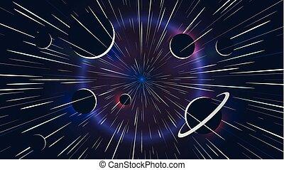 velocidad, espacio, pasado, volar alto, luces, aventura, estrellas