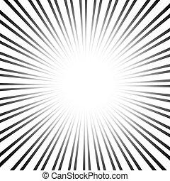 velocidad, gráfico, líneas, efectos, radial