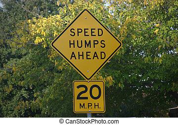 velocidad, jorobas