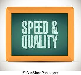 velocidad, y, calidad, señal, ilustración, diseño