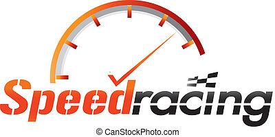 velocidade, correndo, logotipo