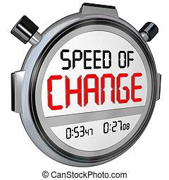 velocidade, de, mudança, cronômetro, cronômetro, relógio, tempo, para, inove