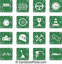 velocidade, jogo, grunge, correndo, ícones