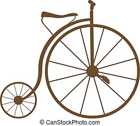 Vector illustration of an antique bicycle, EPS 8 file