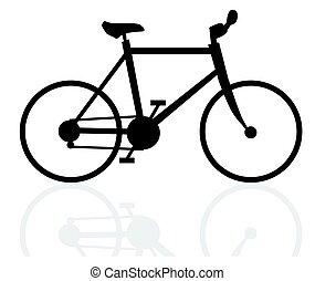 velocipede, witte achtergrond