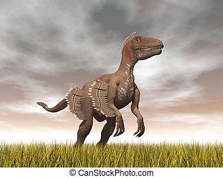 Velociraptor dinosaur - 3D render - Velociraptor dinosaur...