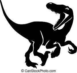 velociraptor, dinosaure, chasse