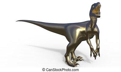 Velociraptor front view 3d rendering - 3d Velociraptor front...