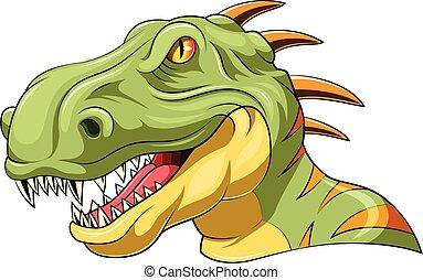 velociraptor head mascot