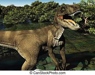Velociraptor the dinosaur 3d rendering - Velociraptor the...