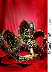 velours, carnaval, vendange, masque, vénitien, fond