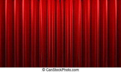 velours, théâtre, rideau rouge