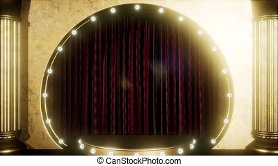 Velvet Curtain Stage