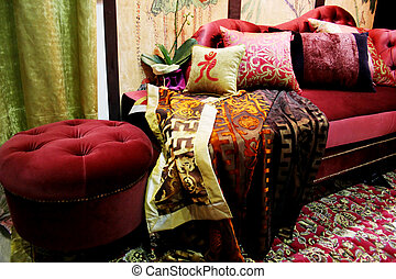 Beautiful velvet lounge