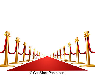 Velvet rope and red carpet illustration - Illustration of a...