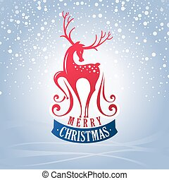 venado, tarjeta de navidad, saludo