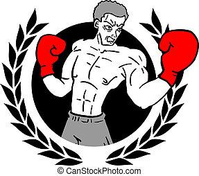 vencedor, boxe