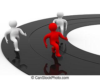 vencedor, em, esportes, competition., isolado, 3d, image.