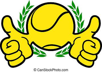 vencedor, tênis