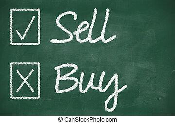 Venda, comprar, concepto