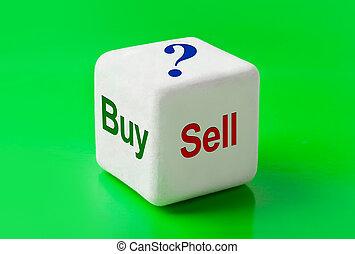 venda, comprar, dados, palabras