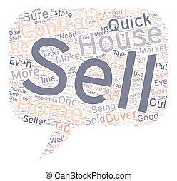 venda, concepto, texto, wordcloud, plano de fondo, rápido, ...