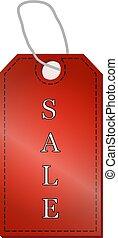 venda, etiquetas, jogo, isolado, ligado, um, fundo branco, vetorial, ilustração