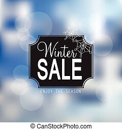venda, inverno, vetorial, cartaz