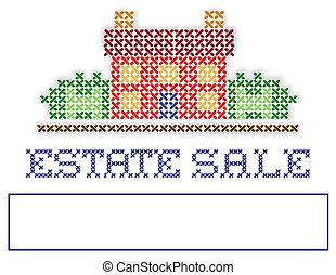 venda jarda, propriedade, sinal