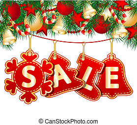 venda, natal, etiquetas