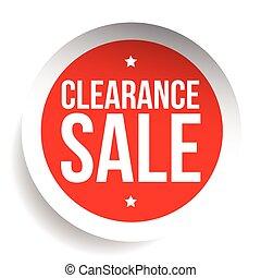 venda tag, etiqueta, vetorial, folga, ou, vermelho
