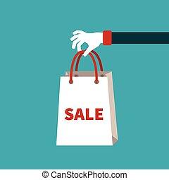 venda, vetorial, conceito, em, apartamento, caricatura, estilo