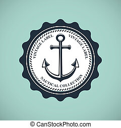 vendange, écusson, nautique