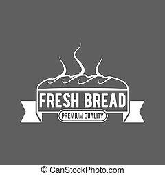 vendange, étiquette, boulangerie, retro, logo, écusson