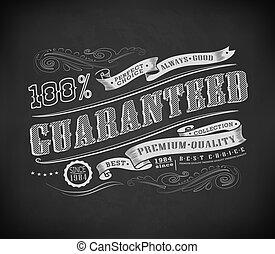 vendange, étiquette, retro, typographie