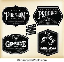 vendange, étiquettes