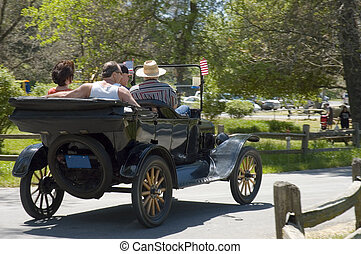vendange, 1930, voiture