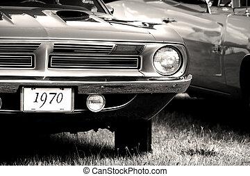 vendange, 1970, voiture