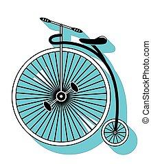 vendange, 2, type, vélo