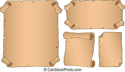 vendange, 3, parchments, collection